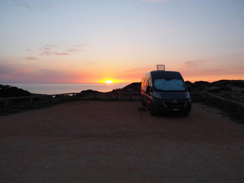 Camper Abendrot Portugal