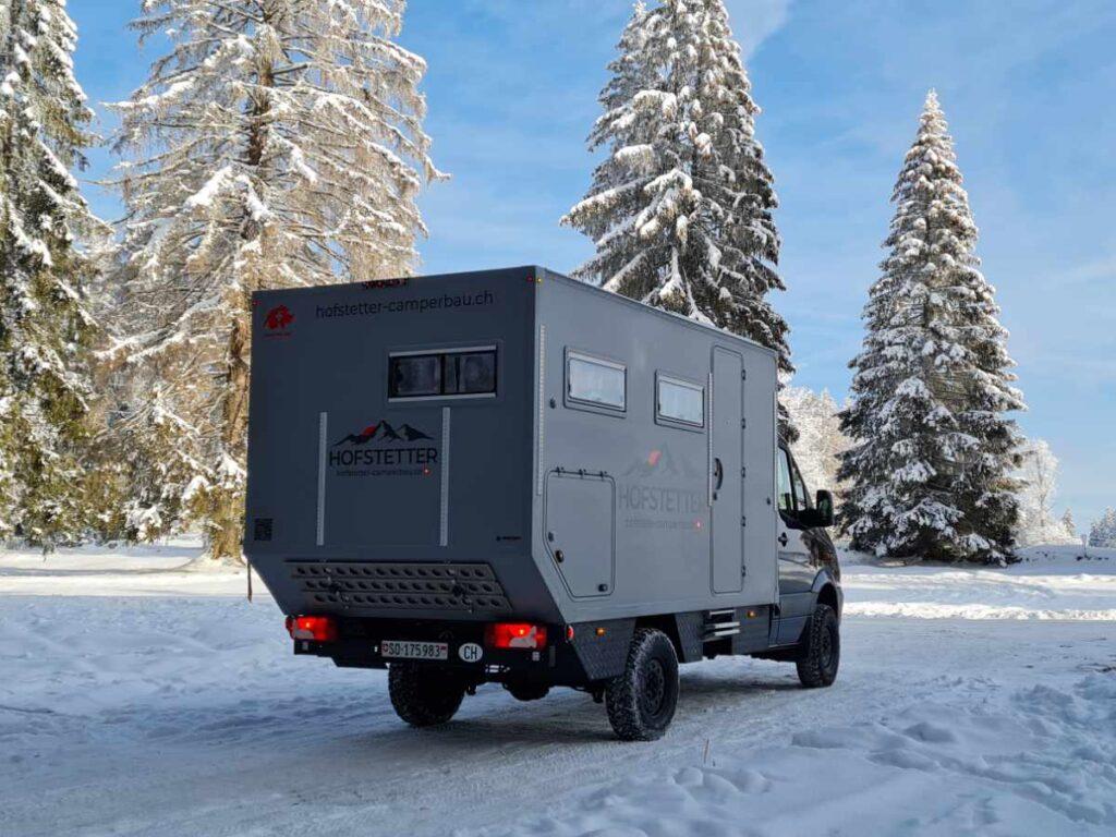 Camper Winterlandschaft