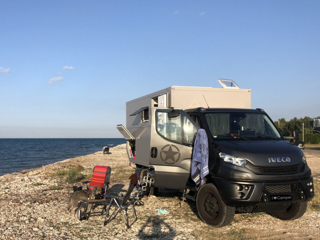Camper am Meer